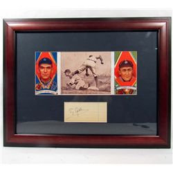 TY COBB CUT SIGNATURE W/ PHOTO - FRAMED W/ COA