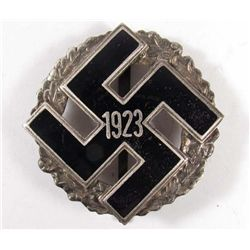 GERMAN NAZI ENAMELED 1923 BADGE