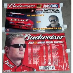 2 Budweiser Earnhardt Sr. & Jr. Bar Banners
