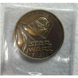 Bronze Limited Edition Star Wars Episode III Medal