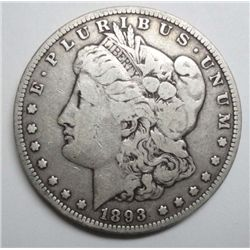 1893 MORGAN DOLLAR VG+