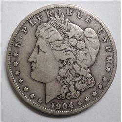 1904-S MORGAN DOLLAR VF
