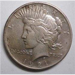 1921 PEACE DOLLAR ORIGINAL AU +
