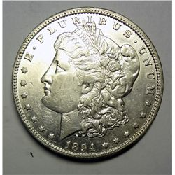 1894-O MORGAN SILVER DOLLAR AU CLEANED