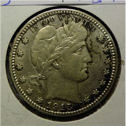 1915 BARBER QUARTER ORIGINAL AU NICE!