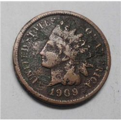 1909S Indian penny  nearly full Liberty but corroded