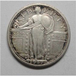 1917 T1 Standing Liberty quarter  XF