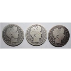 3  1896S Barber half $ borderline  good