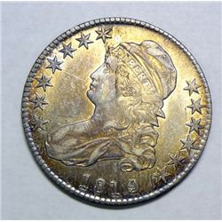 1819/18 Bust half $  all original AU53  AU GS bid = $605