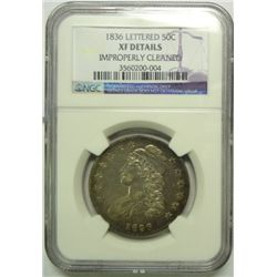 1836 Bust half $  NGCXF cleaned
