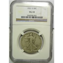 1921S  Walker half $  NGC10  GS  15 bid = $165