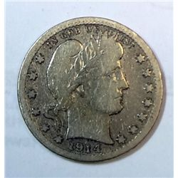 1914S  Barber quarter full rim  3 ltr Liberty VG