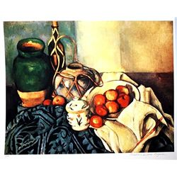 Limited Edition Cezanne- Still Life with Apples - Collection Domaine Cezanne