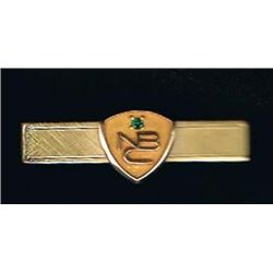 Rare NBC   O C Tanner 20 12K  GP Gold Award Service Tie Bar  Great Find! NBC or Adv Collectible