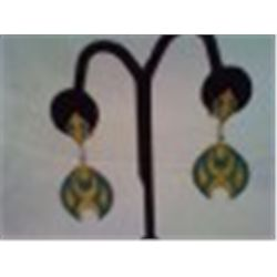 "Pair of Vintage Earrings Mod Style 2"" Drop"