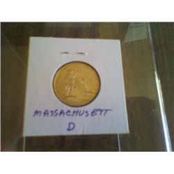 Uncirculated Statehood Quarter Massachusettes Denver Mint