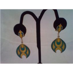 Pair of Vintage Earrings Mod Style 2  Drop