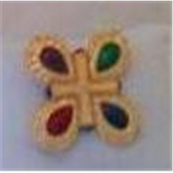 Colorful Broach/Pin Signed Liz Claiborne Inc 1 3/4
