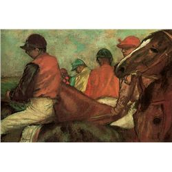 Horses with Jockeys - Edgar Degas - Limited Edition on Canvas