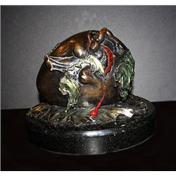 Dali Limited Edition Bronze  Sculpture - Geopolitical Child Watches The Birth Of The New Human