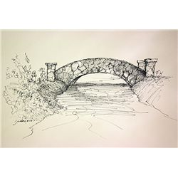 Michael Schofield Original Hand Signed, Hand Draw, Ink Drawing on Paper