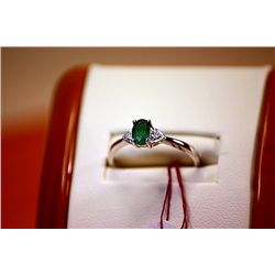 #129 - Fancy Ladys Columbian Emerald Ring