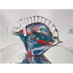 Murano Glass - fish with clear fins and tail