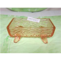 Pink Trough footed - depression glass