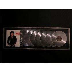 Michael Jackson Framed Platinum Record Display