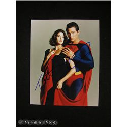Terri Hatcher and Dean Cain Signed Superman Photo