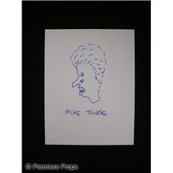 Mike Judge Signed Drawing