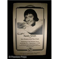 Keely Smith Signed Concert Poster