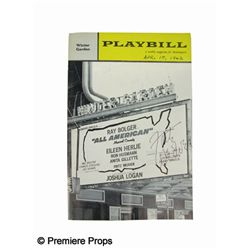 Playbill for All American Signed by Fritz Weaver