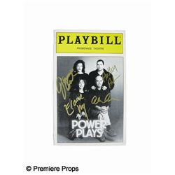 Power Plays Playbill Signed by Cast