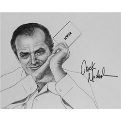 Jack Nicholson Signed Drawing