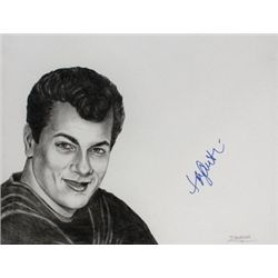 Tony Curtis  Signed Drawing