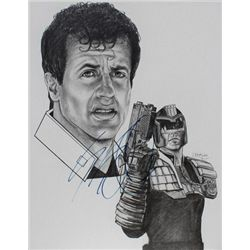 Sylvester Stallone Signed Painting