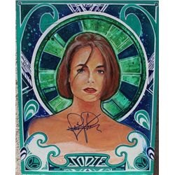 Signed Painting of Jodie Foster
