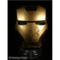 Robert Downey Jr. Signed Iron Man Mask