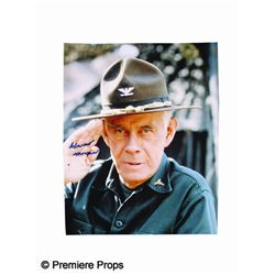 Harry Morgan Signed Photo