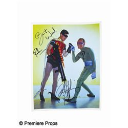 Burt Ward and Frank Gorshin Signed Batman Photo