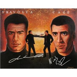 John Travolta and Nicholas Cage Signed Painting