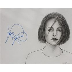Jodie Foster Signed Drawing