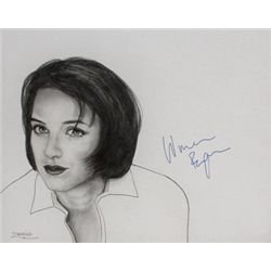 Winona Ryder Signed Drawing
