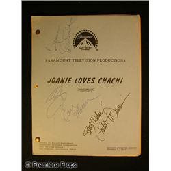 Joanie Loves Chaci Cast Signed Script
