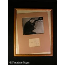 Framed and Matted Spencer Tracy Signature