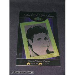 Michael Jackson Memorial Serive Program