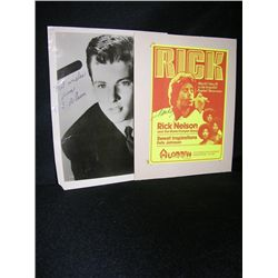 Ricky Nelson Signed Items