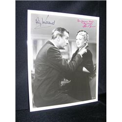 Ray Milland and Lana Turned Signed Still