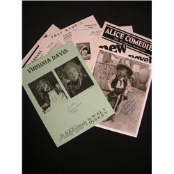 Virginia Davis Signed Lot